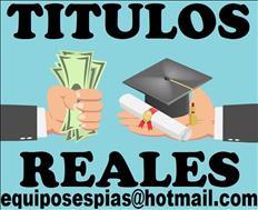 Titulos universitarios y tecnicos registrados y verificables
