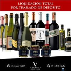 Liquidacion Total de Vinos, Espumantes x Traslado Deposito