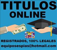 Titulos universitarios y tecnicos  equiposespias@hotmail.com