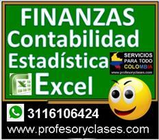 Profesor de Contabilidad a domicilio Medellin Finanzas Excel
