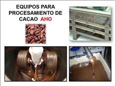 EQUIPOS PARA PROCESAMIENTO DE CACAO