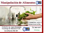 Cursos Manipulación de Alimentos -Acreditación INA  2019