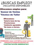 Empleo para TECNICO DE TALLER Y ASESOR DE VENTAS