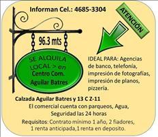 SE ALQUILA LOCAL COMERCIAL EN CENTRO Co. Aguilar Batres