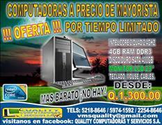 OFERTA DE COMPUTADORAS