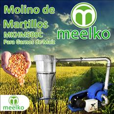 Molino de Martillos MKHM500C para granos o semillas