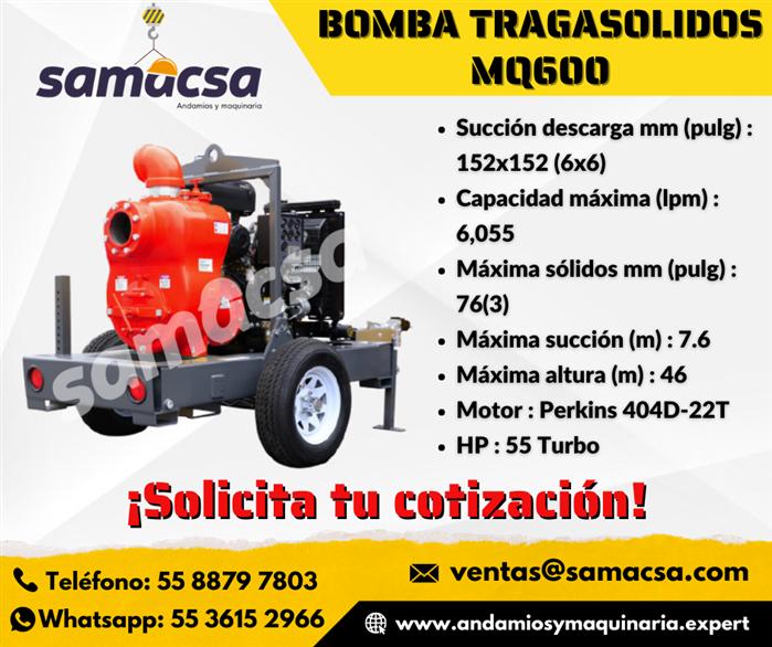 Bomba Para Tragasolidos MQ600