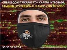 CARETA FACIAL INTEGRADA AL CUBREBOCAS 2 EN 1