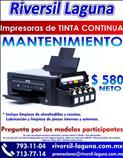 MANTENIMIENTO A IMPRESORAS DE TINTA CONTINUA