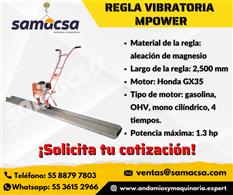 Regla vibratoria 2.5 mts
