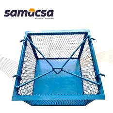 Canastilla para elevación de materiales samacsa