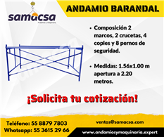Andamio 1.56*1.00