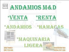 Renta y Venta ANDAMIO HAMACAS Y MAQ. LIGERA