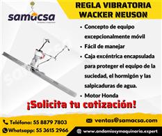 Regla vibratoria Wacker extensible