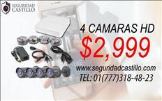 4 CÁMARAS DE 1 MEGAPIXEL HD