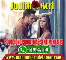 SOLUCIONO PROBLEMAS SENTIMENTALES JUDITH MORI +51997871470