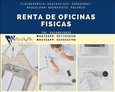 RENTA DE OFICINA 100M2 ECHEGARAY $5,500 SERVICIOS INCLUIDOS