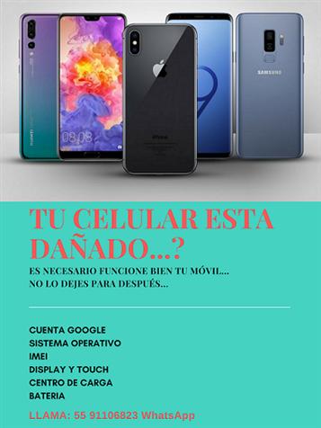 REPARACION DE TELEFONOS CELULARES O TABLET