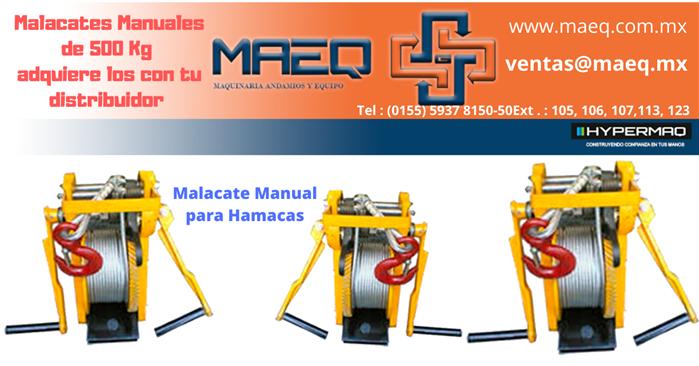 MALACTE MANUAL DE HAMACA