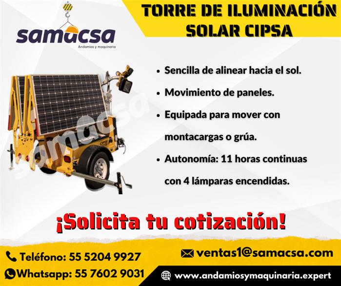 Torre De Iluminación Solar Cipsa