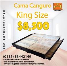 Cama canguro kingsize chocolate en Garcia