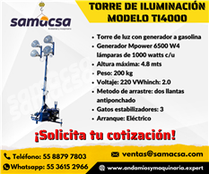 Torre de iluminación mod Mpower