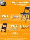 Oferta de sillas acojinadas para salón de eventos