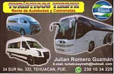 renta de autobuses y camionetas de turismo en Tehuacan pue