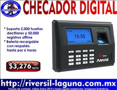 RELOJ CHECADOR BIOMETRICO ANVIZ