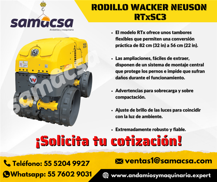 Samacsa Rodillo Doble Wacker Nueson
