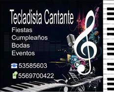 Tecladista Musico Cantante para Fiestas,Eventos