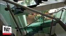 Barandales de acero inoxidable y vidrio templado