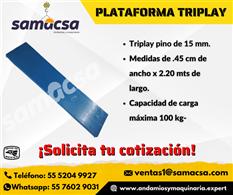 Plataforma triplay para andamio