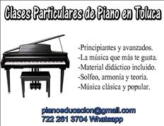 Clases Particulares de Piano en Toluca Metepec