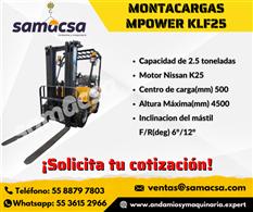 Montacargas marca Mpower 2.5 ton