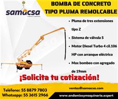 Bomba tipo pluma para concreto