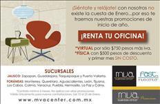 Renta de oficinas virtuales y amuebladas.