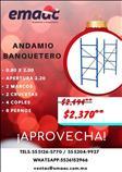 Andamio banquetero de 0.80x2.00 mts.