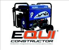Generador 6500w eléctrico equiconstructor