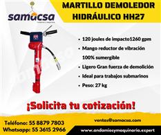 Martillo demoledor hidráulico HH27
