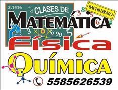 MATEMÁTICAS, FÍSICA, QUÍMICA Y + CLASES DOMICILIO PREPA