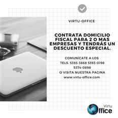 DOMICILIO FISCAL? VIRTU-OFFICE SIN COSTOS SORPRESA
