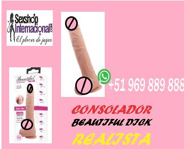"CONSOLADOR BEAUTIFUL DICK REALISTA DE 10.6"" DE PLACER"