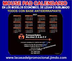 CALENDARIO 2021 EN FORMA DE MOUSE PAD