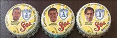 Corcholatas de Cerveza Sol de Tuzos del Pachuca Campeón 2001