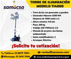 Torre de iluminación generador mpower