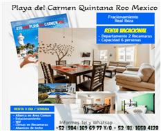 Playa del Carmen Q  Roo ,RENTAS VACACIONALES (Renta x Dia)