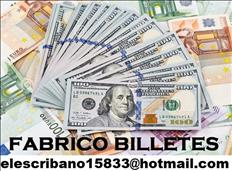 Vendo billetes falsos  elescribano15833@hotmail.com