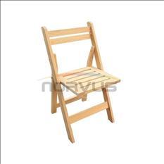 Vendo lote de 50 sillas de madera plegables