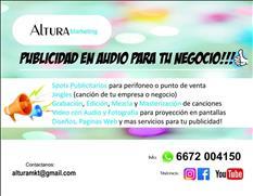 Publicidad en Audio Spots Grabaciones Voz y Musica